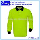 safety reflective long sleeve polo shirt