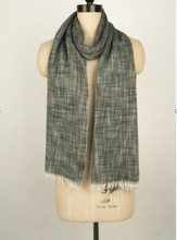 Mens Fashion Two Tone yarn dyed bamboo cotton Four Season scarf
