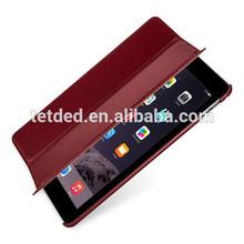 TETDED Premium Leather Case for Apple iPad Air 2 -- Quimper (Vintage: Red)