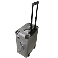 Sliver Smooth Aluminum Trolley Travel Case