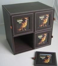 Portable PU Picture Frame Box/ Portable PU Photo Frame Box