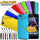 Ultra Slim Hybrid Hard Case Cover For Sony Z1 Compact + Screen Protector + Stylus as Gift With Free Shipping