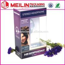 headphone packaging PVC box electronic PP box