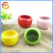 glazed type porcelain flower pot sale for table