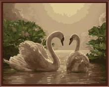SGS CE EN71 factory in stock diy oil painting swans