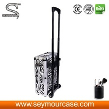 aluminum makeup case with legs aluminum makeup trolley case
