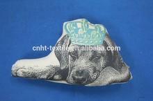 printed dog shaped design cushion