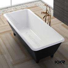 black gel coat stone resin hot tub