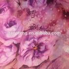 flower printed dubai dress fabric/ dubai chiffon fabric