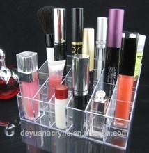 OEM logo printed acrylic cosmetic display