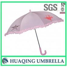 Cute Customized Print Pink Kid Umbrella for Rain