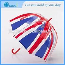 special print American flag design clear rain umbrella