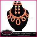 Nigeria corail ensemble de bijoux perles africains ensemble de bijoux africain ensembles de bijoux traditionnels FS8477