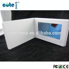 Fashion 7'' etc. LCD PU/Leather OEM Video brochure, video card optical input