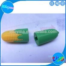3D good quality 2.0 usb sticks free sample promotional pvc corn usb sticks