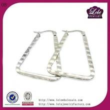 Fashionable antique high polishing stainless steel huggie earrings