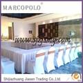 Venta al por mayor de lujo mesa skirtting para las ventas/ganchillo mesa de faldas de los diseños para las bodas/materiales baratos en mesa bordeando