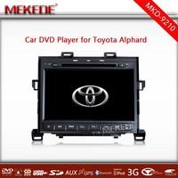 9.2 inch Car DVD GPS navigation player for Toyota Alphard with Radio TV Bluetooth Free map 3G USB Russian menu
