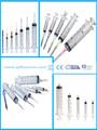 diferentes tipos de seringa tamanho