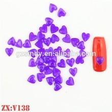 Resin nail glitter shape nail sticker nail art wholesale on selling