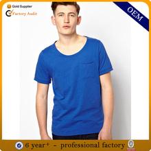 New cheap blank t-shirt wide neck men