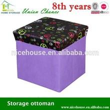Useful nice shapely storage stool, stool storage box, nonwoven storage stool for sitting with printing