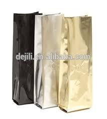 Quad seal aluminum foil bag with air valve