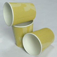 custom disposable cups/ paper coffee cups fan/ coffee brand gifts
