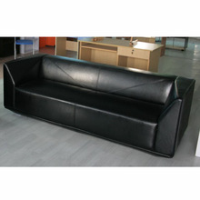 Factory Lowest Price contemporary black leather sectional sofa