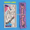 High quality end fold labels damask factory
