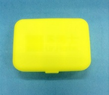 Wholesale new design square plastic pill box / clear pill case