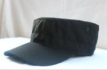 black military peaked cap