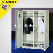 cheap steel 2 door wardrobe with mirror from Kening designer