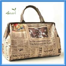 Hobo Fashion Women Newspaper Pattern Shoulder Handbag Travel Tote Messenger Bag