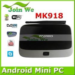2014 hot sale with MK918 CS918 MK888 K-R42 TV BOX Quad Core RK3188 arabic iptv box 2GB RAM 8GB ROM External Wifi