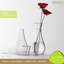Handmade Tall Clear Rose Vase