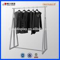 2014 ajustable nueva tienda shoping con recubrimiento en polvo de la ropa de rack