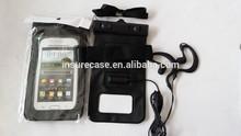 Waterproof phone bag , GuangZhou Factory wholesale waterproof phone bag for samsung s3 s4 s5 with earphone