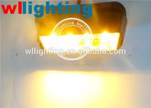 12V 4 Watt 4 LED's Amber Surface Mount cover LED Surface Mount Strobe Light Directional Beacon