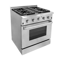 2014 HOT-SELLING HYXION steel 4 Burner Convection Fan Gas Cooking Range