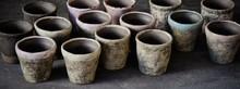 MT44 rustic ceramic pots & planters to match plastic standard pots & planters