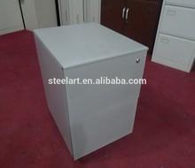painting metal filing cabinet under desk