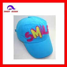 Applique embroidered children baseball cap