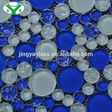 Multi Mixed Glass Round Shape Mosaic Tile Foshan Factory Cheap Pirce GM009