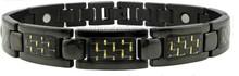hot promotion carbon fiber stainless steel bracelet wholesale