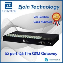 Hot Sale GoIP!! Ejointech MNP 32 port 128 sim Gsm voip Gateway anti sim blocking home automation gateway z-wave and zigbee
