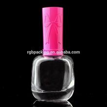 17ml nail polish empty bottle nail polish glass bottle with pink plastic cap wholesale factory