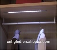 Modern Design led under cabinet infrared light motion sensor for clothing cabinet PC and Aluminum