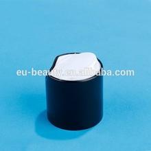Cosmetic bottle lip/Black plastic cap/Press lid 28/410