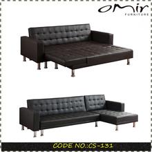 O mais recente design frame de madeira sofá cama cs-131